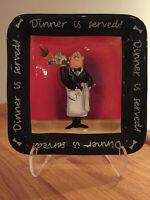 """Certified International Dinner Is Served by Tracy Flickinger 8.5"""" sq Salad Plate"""
