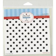 "Gourmet Rubber Stamps Stencil 6""X6"" Polka Dots - NEW"