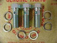 Honda CB 750 Four K0 K1 K2  Schrauben und Dichtscheiben Set Bremsleitungen vorn