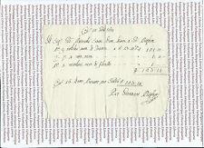 Ricevuta di Pagamento per Seta Nera 1764