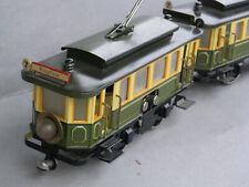 Hehr 13070/72 G Straßenbahngarnitur (Märklin-Replika) Blech, neuwertig / Spur 0