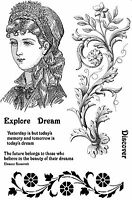 Unmounted Rubber Stamps Victorian Lady Emma SA5039 - REDUCED