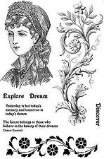 Sin montar sellos de goma victoriana Lady Emma SA5039-reducido
