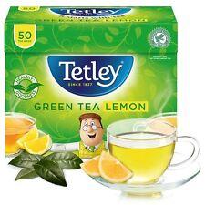 TETLEY GREEN TEA LEMON 4 Boxes X 50 Tea Bags 200 Teabags Best Before 31/01/2019