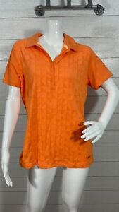 Nike Golf Tour Performance Dr-Fit Polo Shirt Orange Women's Size L