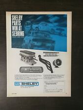 Vintage 1968 Shelby Parts Sebring Jerry Titus Full Page Original Ad