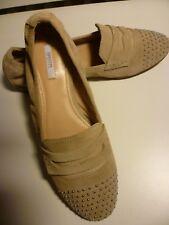 GEOX Damen Schuhe, Ballerinas, Sandalen Pumps aus Leder, in Beige, Gr. 37,5