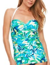 Chaps Tropical Body Sculptor & Tummy Slimmer One-Piece Swimsuit Women's #2162