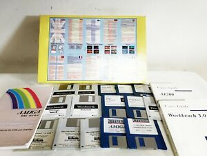 COMMODORE AMIGA DISKS SOFTWARE AND BOOK BUNDLE WORDSWORTH WORKBENCHES PAINT