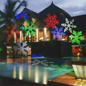 Moving Snowflake Christmas Projector Light LED Garden Outdoor Landscape Lamp HOT