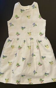 NWT Girls 10 Janie & Jack EASTER white Floral Ditsy JACQUARD Cut-out Back DRESS