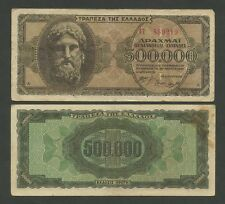 GREECE - 500000 drachmai  ZEUS  1944  P126  GF-VF  ( Banknotes )