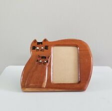 Adorable Wooden Cat Picture Frame Pets Made in Philippines