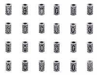 24 Runen Set BARTSCHMUCK Haarschmuck Wikinger Vikings Bartperlen Mittelalter