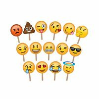 Emoji Photo Props Ideal for Wedding Photography and Photo Booths (Pack of 15)