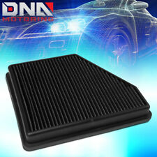 FOR 2010-2015 CHEVY CAMARO 3.6L 6.2L HIGH FLOW DROP IN PANEL AIR FILTER BLACK