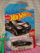CORVETTE C7 Z06 #48✰black/red rim pr5✰THEN AND NOW✰2018 i Hot Wheels case B