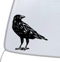 CROW Vinyl Decal Sticker Car Window Wall Bumper Black Bird American Dope Cute