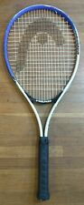 "Head TI. Conquest Tennis Racquet Racket 27 in. Black White Blue 7"" Handle 9.8oz"