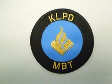 Vintage Netherlands KLPD National Police Services Agency Sew On Patch