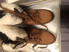 Dune Heeled Sneaker Wedges Tan Boots 5