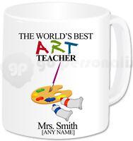 Personalised Gift Thank You Best Art Teacher Mug Teacher Birthday Christmas