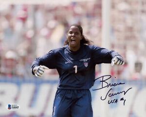 BRIANA SCURRY SIGNED 8x10 PHOTO TEAM USA SOCCER GOALIE LEGEND HERO BECKETT BAS