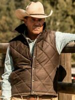 Yellowstone Kevin Costner John Dutton Quilted Cotton Vest