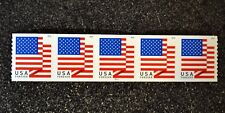 2018USA #5260 Forever U.S. Flag US - PNC Plate Number (#P111) Coil Strip 5 (APU)