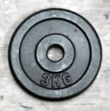 """3Kg Weight Disc, Cast Iron, 1"""" clearance hole, Plate for 1"""" Bars"""