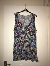 TU womens Multicoloured Size 20 Floral Sleeveless Top In Good Condition
