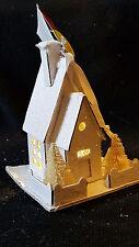"4.5"" Putz cardboard vintage style Led light house white Nwt"