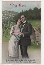True Love, Romance Postcard, B524