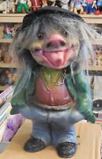 """VINTAGE LARGE10 """" FIGURE BOBBLE HEAD TROLL HEICO MADE IN GERMANY 1970s"""