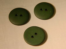 25 NEW 3/4 INCH  OLIVE GREEN DULL/MATTE FINISH BUTTONS # 261CD29-24