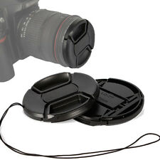 10pcs 58mm Front Snap-on Lens Caps Cover with Cord for 58mm DSLR Camera Filter
