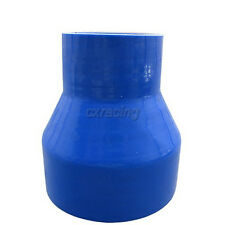 """CXRACING 5""""- 4"""" Blue Silicon hose reducer For Intercooler Intake pipe 4.5"""" Long"""