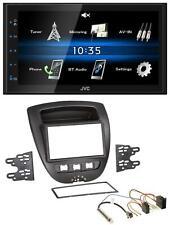 JVC 2DIN Bluetooth MP3 AUX USB Autoradio für Peugeot 107 Citroen C1 Toyota Aygo