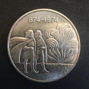 Iceland - Silver 1000 Krónur - '1st Settlement' - 1974 - UNC