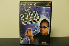 WWE SmackDown! Just Bring It (Sony PlayStation 2, 2002) *Tested