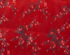 Stoff aus China - Dekostoff Kirschblüte rot/schwarz  Mischgewebe  Meterware