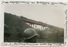 *WWII photo- 80th ID- US GIs en route to ATTACK on CRIMMITSCHAU Germany*