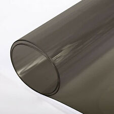 Smoke Tinted Vinyl 10 Gauge Black Transparent Plastic PVC Fabric by the Yard 54