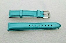 Genuine Michele 18mm Turquoise Patent Leather  Watch Band Strap Pre-Owned