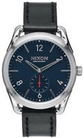 Nixon C39 Leather A459008 Black Dial Black Leather Band Men's Watch