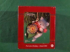 2001 CARLTON CARDS CHRISTMAS ORNAMENT #65: PURR-FECT HOLIDAY