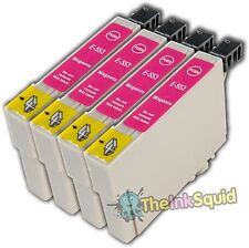 4 Magenta T0553 non-OEM Ink Cartridge For Epson Stylus Photo RX420 RX425 RX520