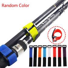 10x Reusable Fishing Rod Tie Holder Strap Fastener Ties Fishing Tools SupplyTB