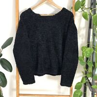 Wrangler Womens Black Knit Style Pullover Round Neck Jumper Sweater Size 8