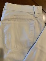 NYDJ Not Your Daughters Jeans Womens Sz 6P White Straight Leg Jeans